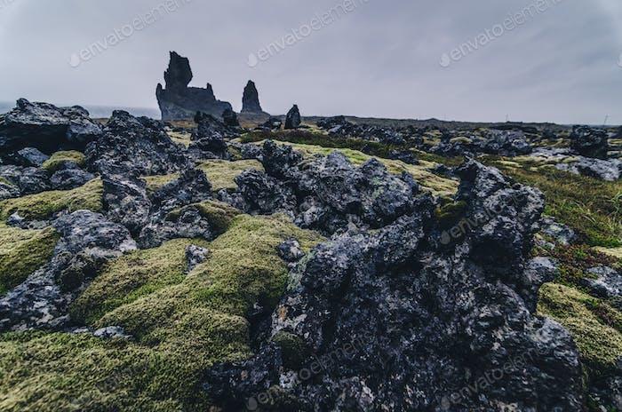 erstaunliche Felsformation, Londrangar, Snaefellsness Halbinsel, Island