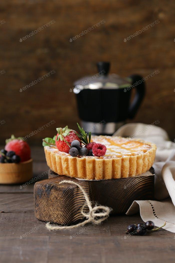 Cheesecake with Powdered Sugar