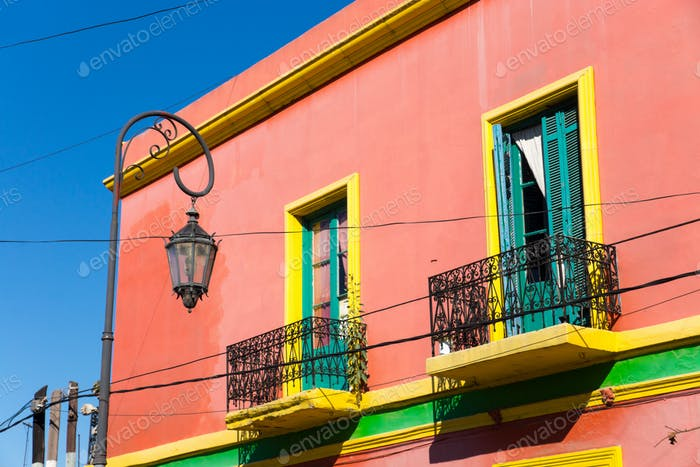 Colourful house in La Boca