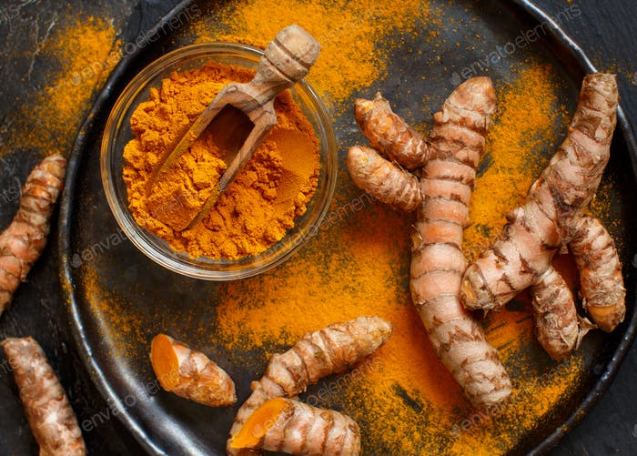 Turmeric powder or Curcuma