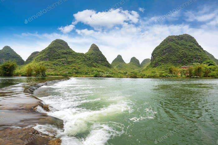 Horizontal del río yulong
