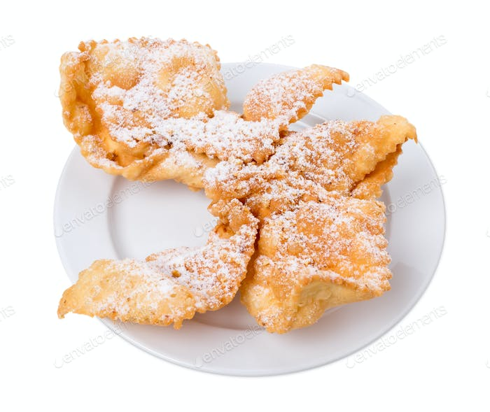 Sweet fried puff biscuits.
