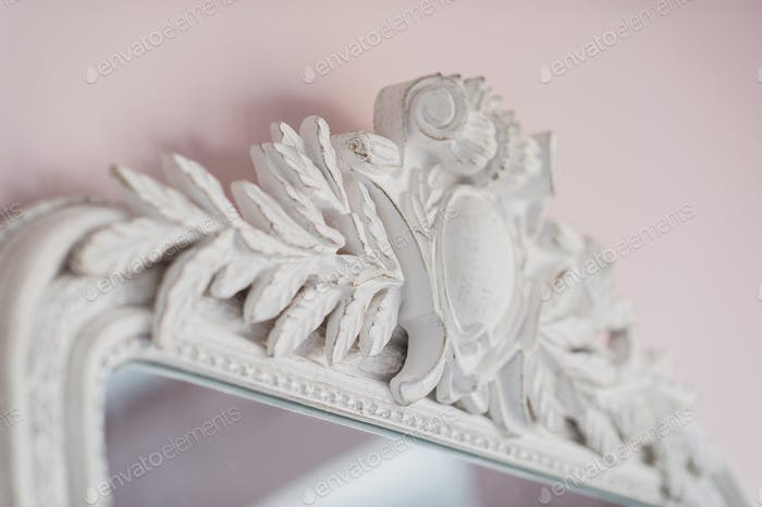 Emerald mirror are decorated with stucco decorative elements of the Renaissance, Baroque