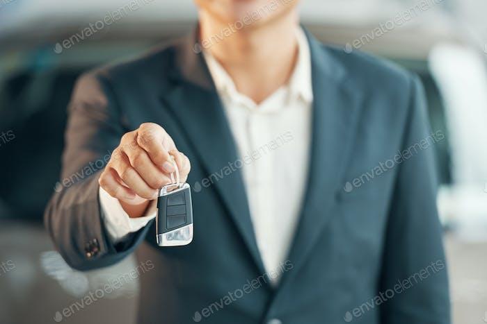 Giving car keys