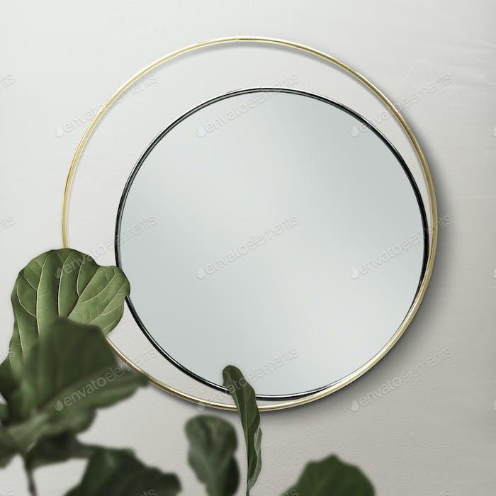 Runde überlappende Spiegel an der Wand