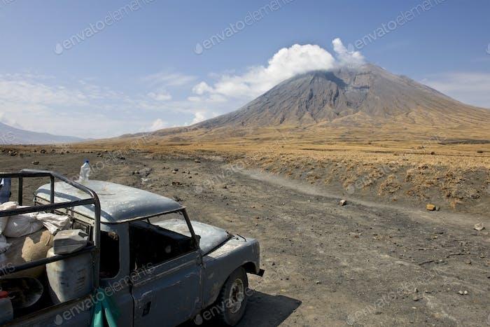 Tanzania volcano, old abandoned car, Ol Doinyo Lengai, Tanzania