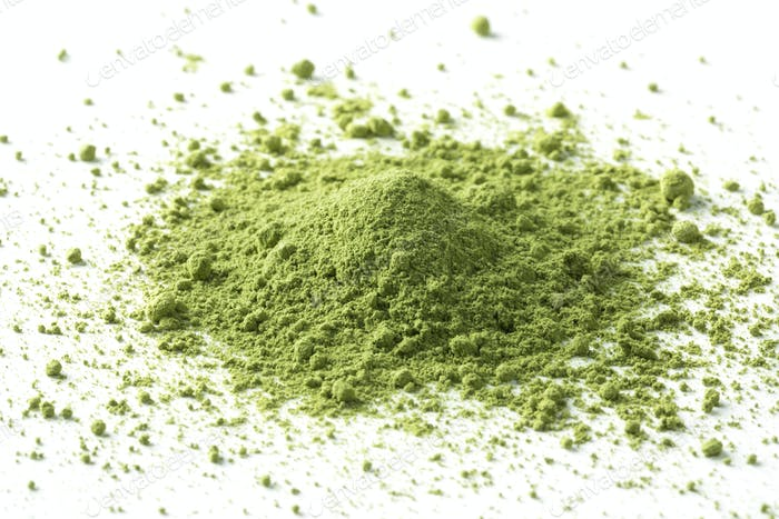Heap of Japanese Matcha tea powder