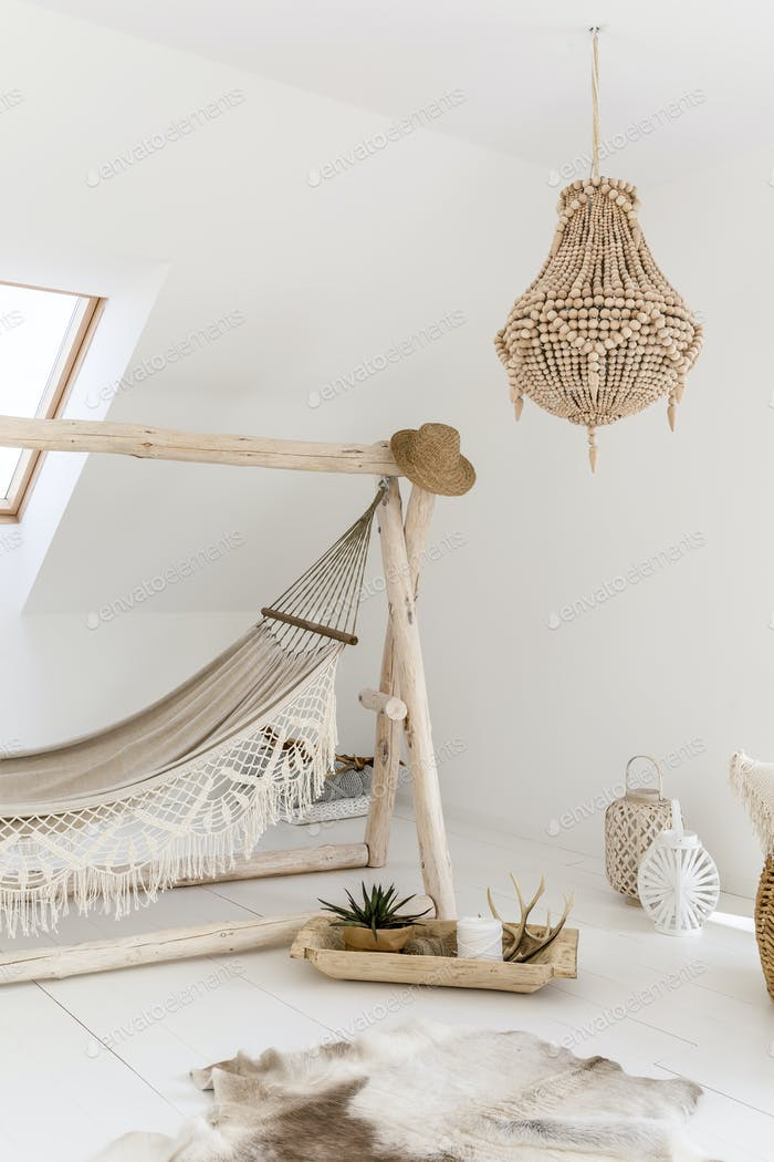 Hammock in ethnic room