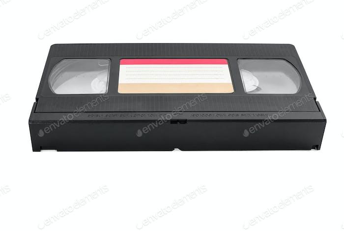 VHS-Kassette auf weißem Hintergrund