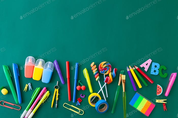 Colorful Back to School background