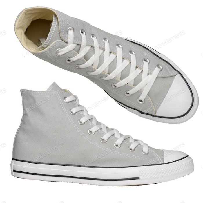 Gray sneakers