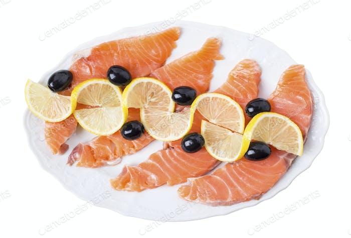 Delicious salmon fillet.