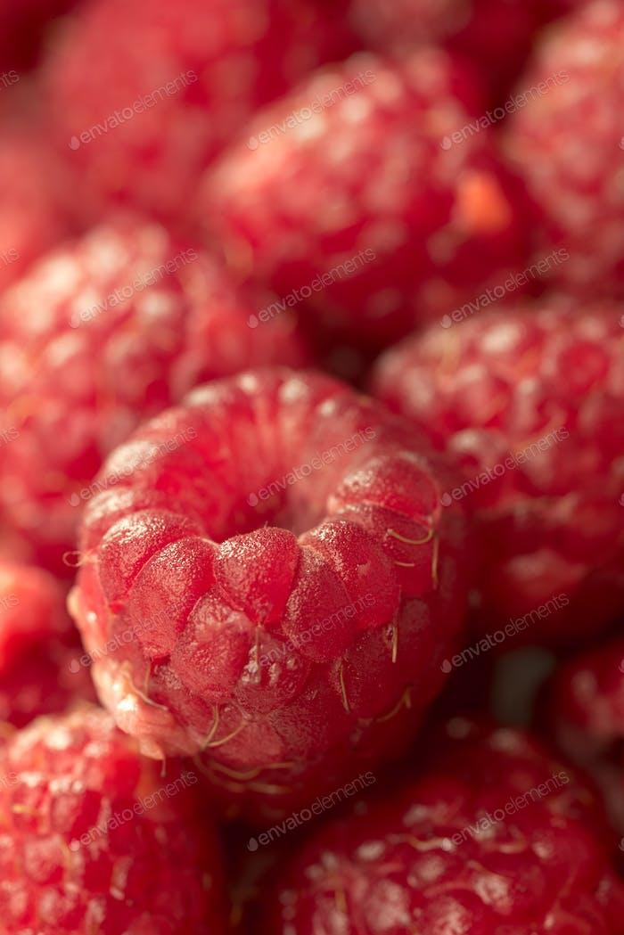 Sweet raspberry. Macro.