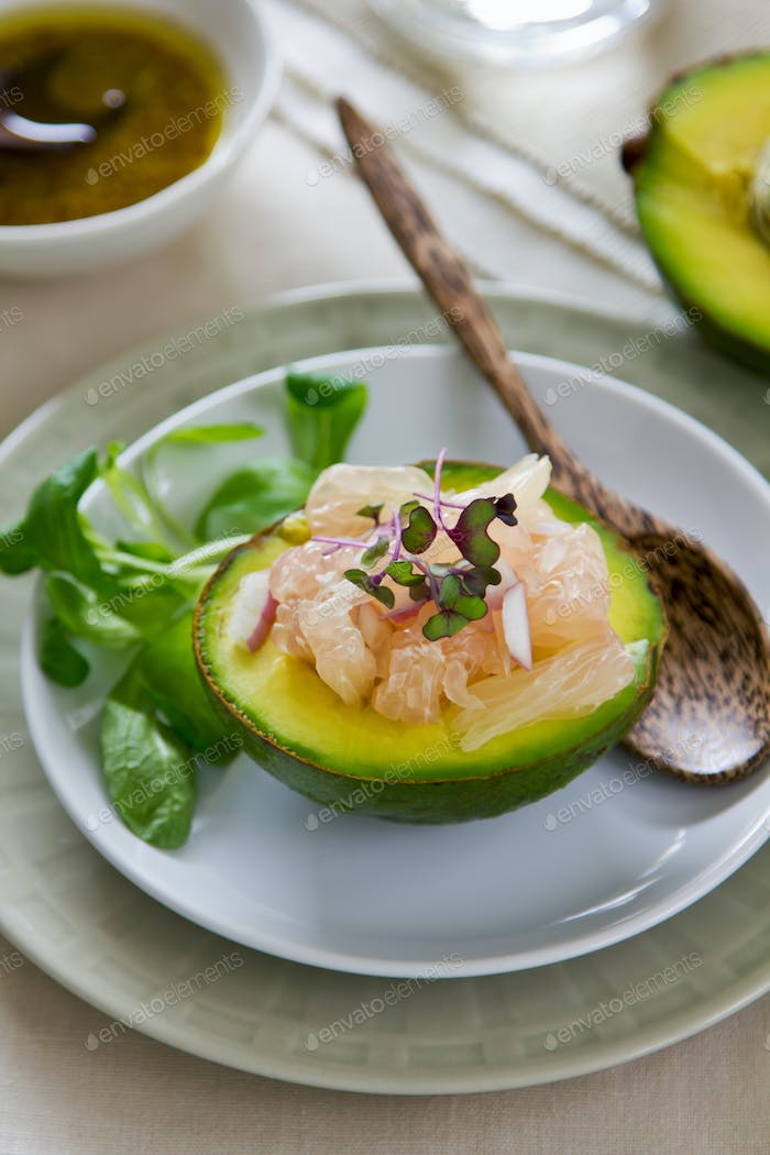 Avocado with Grapefruit salad
