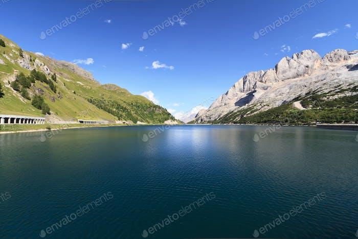 Dolomites - Fedaia lake