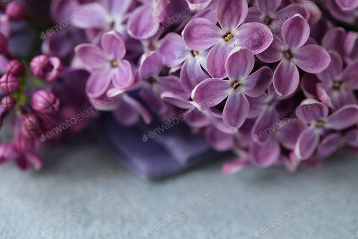 Bouquet of White and Purple Lilac