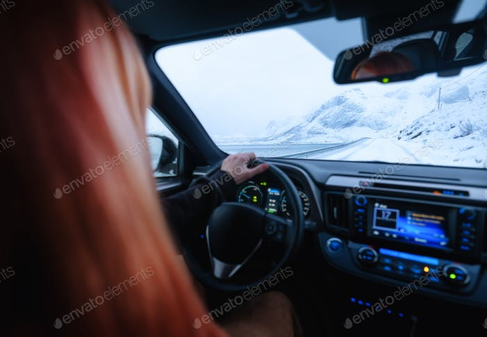 Travel by car. Inside view of the car