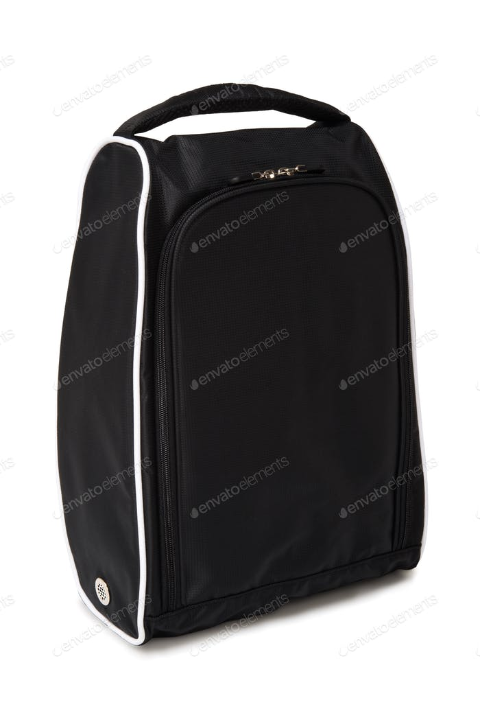 Golf shoes bag, black color for travel