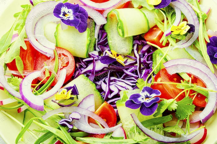 Appetizing spring salad.