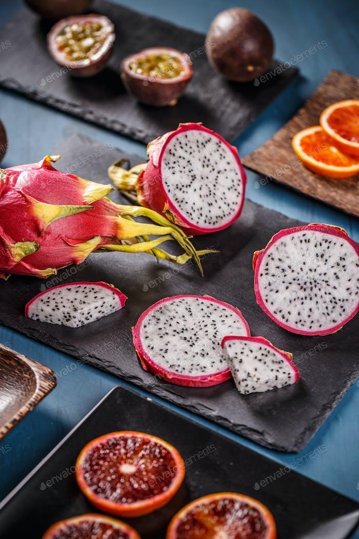 Gesunde exotische Früchte