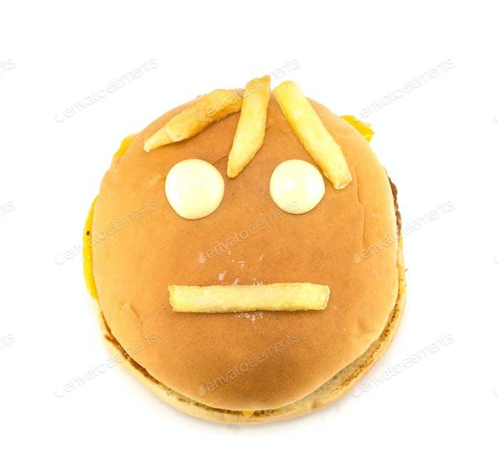 Lächeln von Fast Food