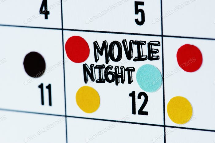 Movie night calendar reminder