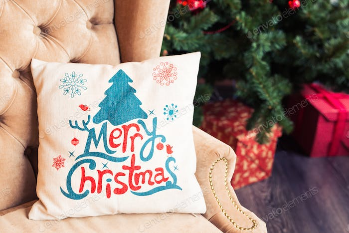 Christmas pillow for decoration