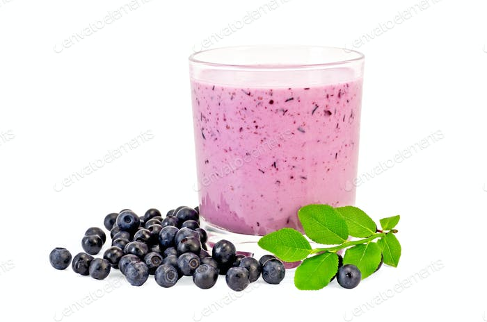 Milkshake with blueberries
