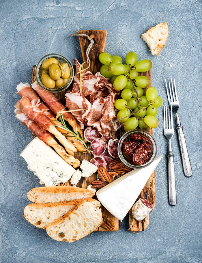 Käse- und Fleischvorspeise Auswahl