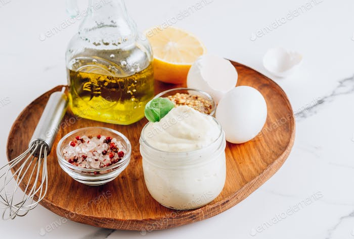 Homemade mayonnaise sauce