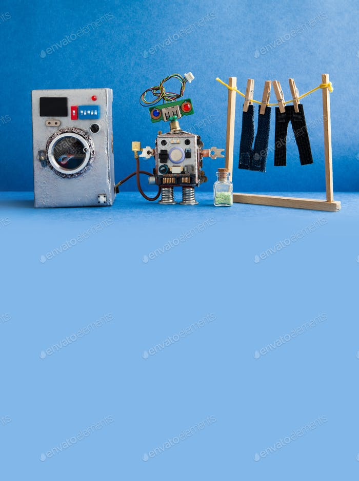 Domestic Robot automation laundry room.
