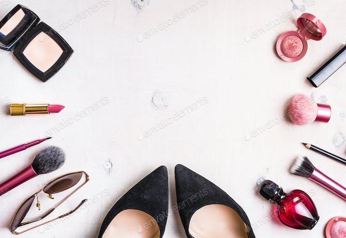 Feminine cosmetic background