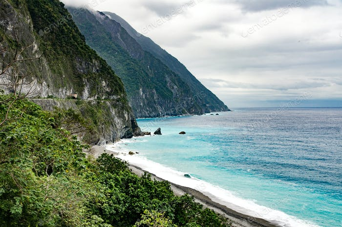 Cingshuei Klippe in der Nähe von Hualien - Taiwan