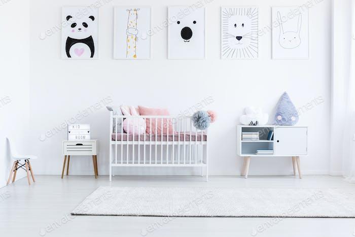 Tiger drawing in girl's bedroom