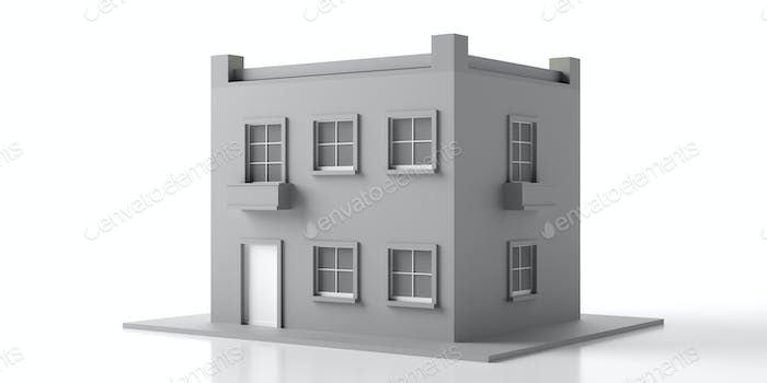 House mansion miniature isolated against white background. 3d illustration