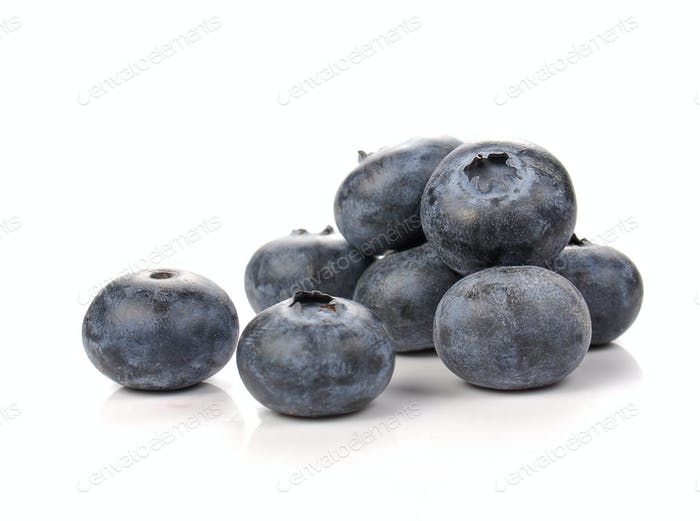 Rasberry on white background.