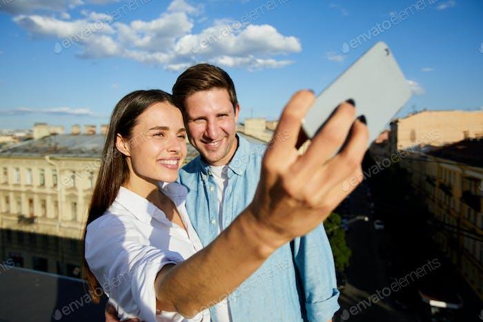 Selfie on roof