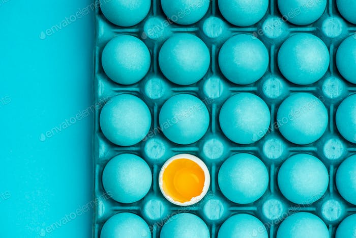 Minimal visual art design with eggs