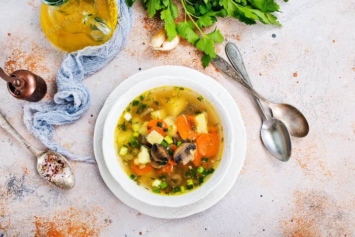 soup with mushhrooms