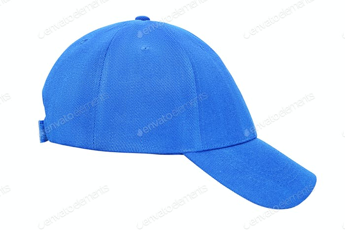 Blue baseball cap isolated