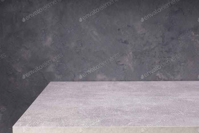 wooden plank board table and wall background