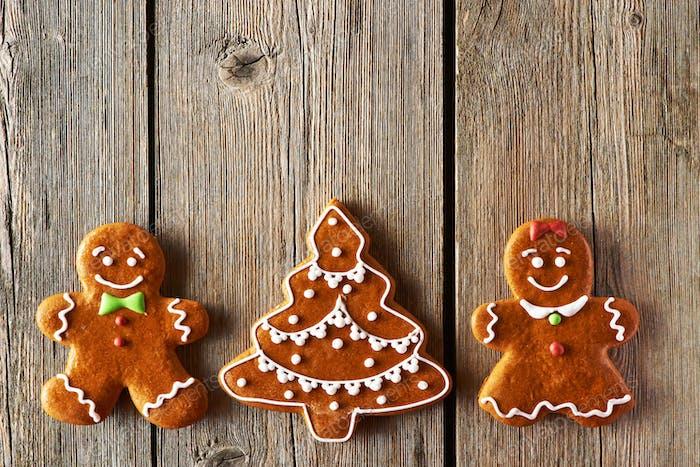 Рождественские пряники пара и елочные печенье