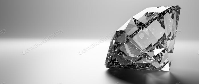 Brilliant cut diamond, precious gem jewelry