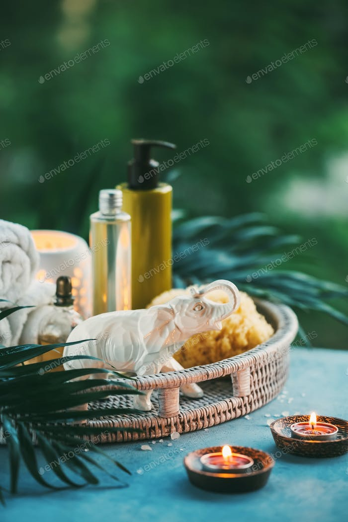 Spa Setting outdoor.