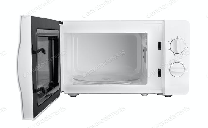 microwave isolated on a white background