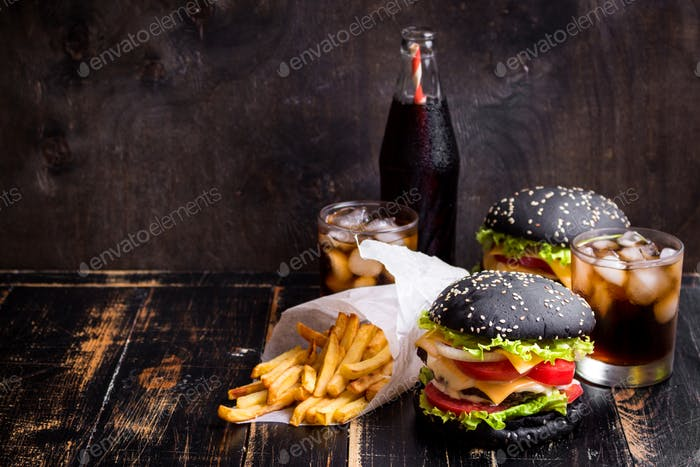 Burgers set background