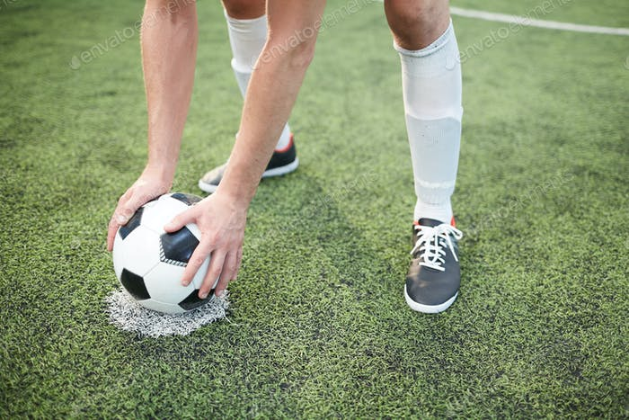 Prepare ball for game