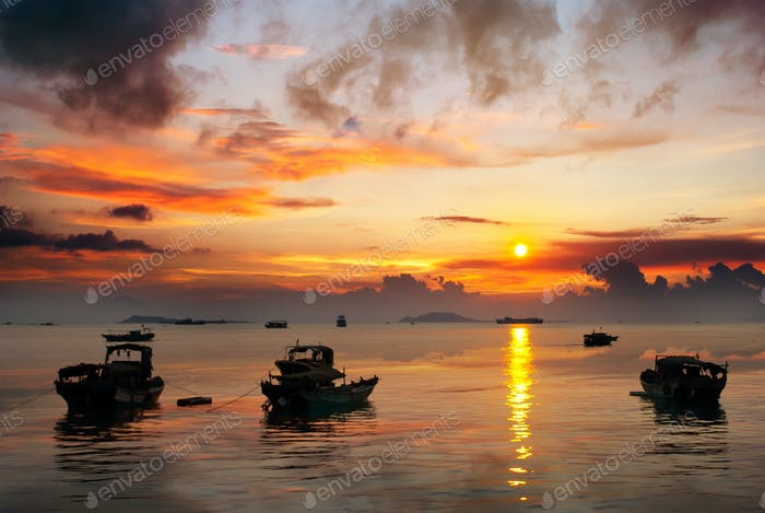 Sonnenuntergang glühen