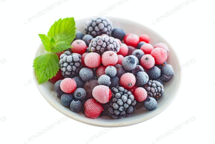 Frozen berry isolated