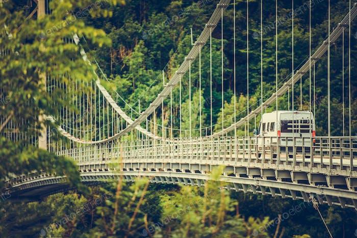 Camper Van on the Bridge